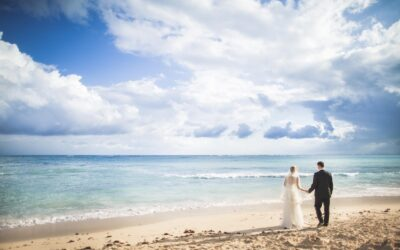 Wedding photos at Dreams Tulum Resort