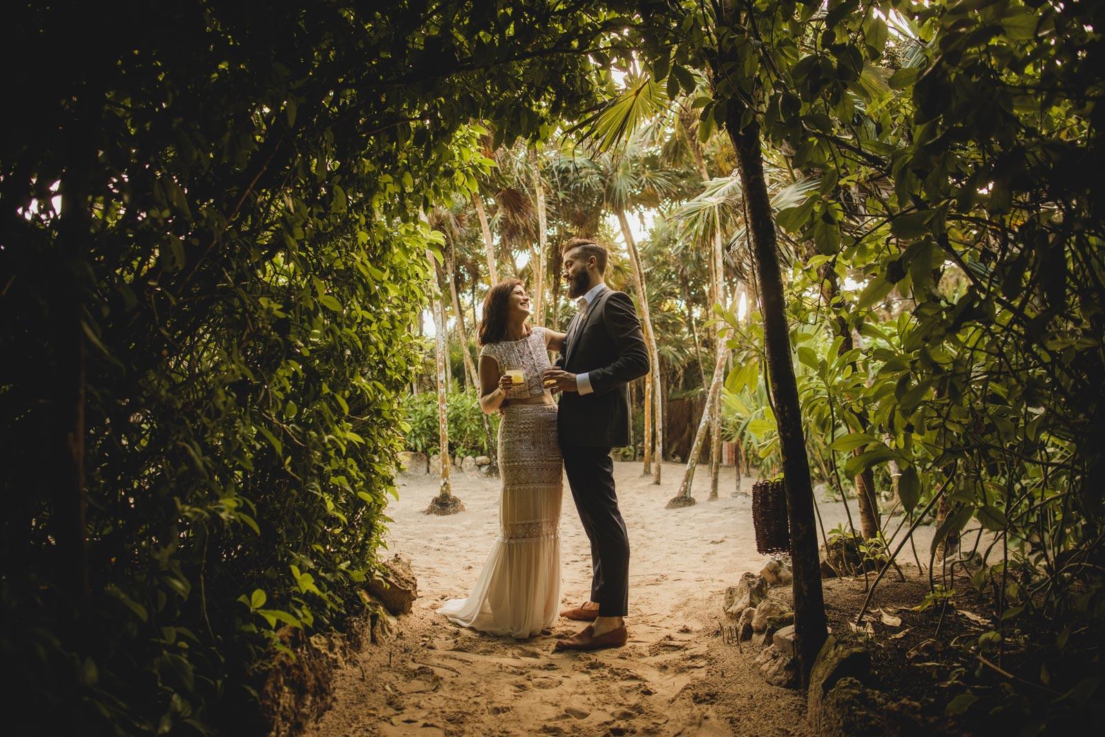 Boho Beach Wedding at Casa Palapa, Tulum