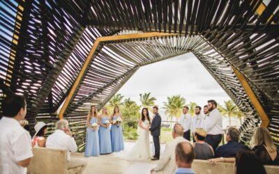 Wedding photos at Royalton Riviera Cancun