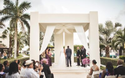 Wedding photos at Secrets Silversands Riviera Cancun