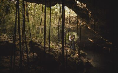 Engagement at the cenote Chikin-Ha