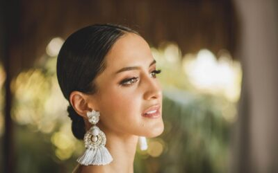 Ideal earrings and accessories for a beach wedding