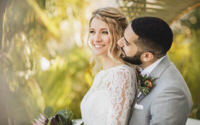 Wedding photos at Dreams Tulum's C.C. & Gitano